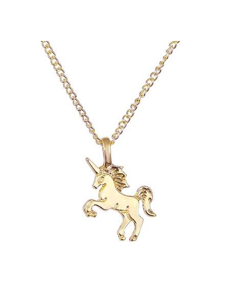 Fashion Favorite Magical Unicorn Ketting - Goudkleurig