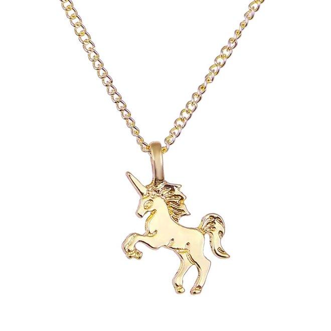 Magical Unicorn Ketting - Goudkleurig - Magische Eenhoorn Hanger -