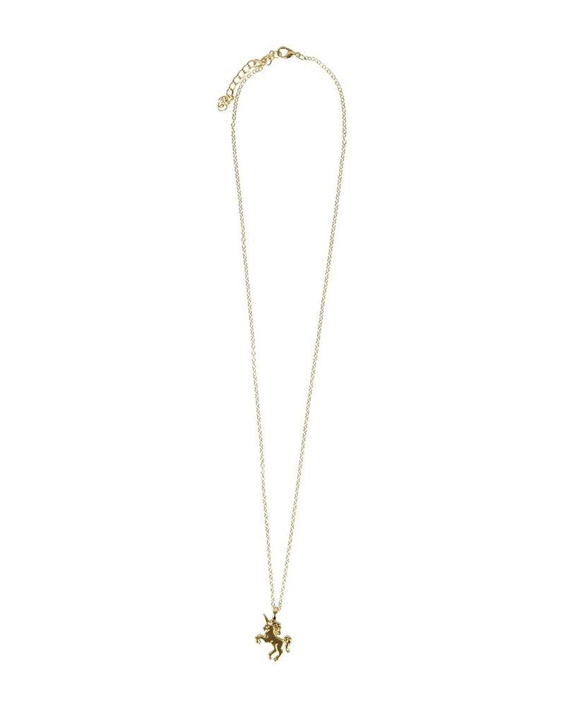 Fashion Favorite Magical Unicorn Ketting - Goudkleurig - Magische Eenhoorn Hanger -