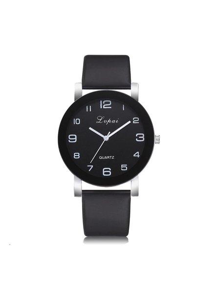 Fashion Favorite LVPAI Quartz Horloge | Zwart & Zwart
