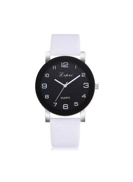 Fashion Favorite LVPAI Quartz Horloge | Wit & Zwart