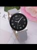 Fashion Favorite LVPAI Quartz Horloge | Grijs & Zwart | PU Lederen Band