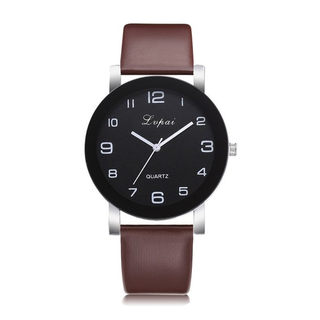LVPAI Quartz Horloge   Bruin & Zwart