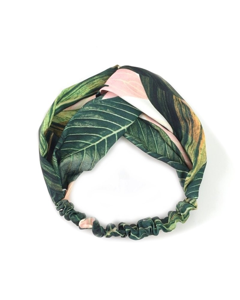 Fashion Favorite Haarband Botanic Jungle | Coral Leafs | Katoen Bandana