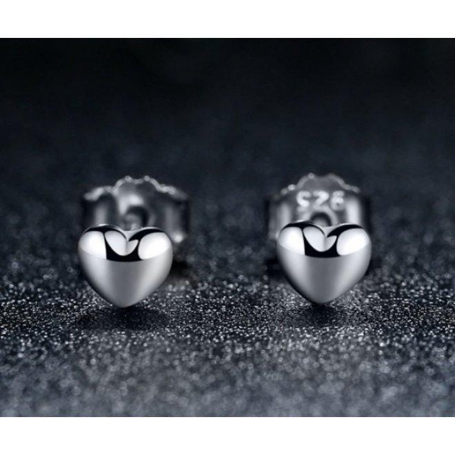 Hartje Stud Oorknopjes/Oorbellen | 925 Zilver | 4 x 0,8 mm