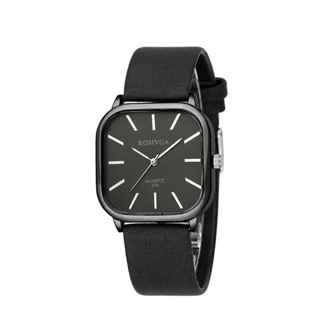 Harley Rosivga Square Horloge | Zwart - Zwart