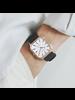 Fashion Favorite Harley Rosivga Square Horloge | Zwart - Wit | Vierkant | Kunstleer | Ø 35 mm