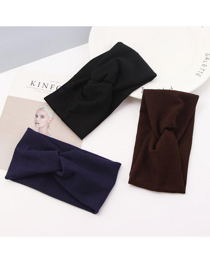 Fashion Favorite Haarband Zwart | Bandana | Katoen | Elastisch