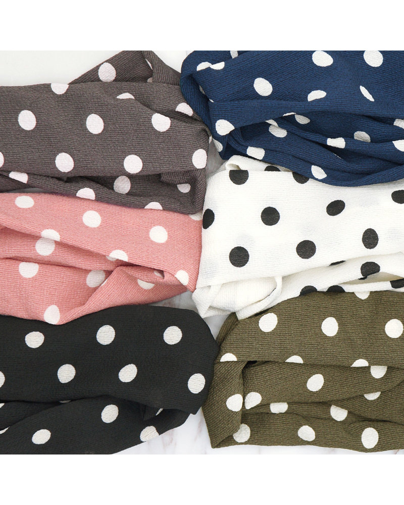 Fashion Favorite Haarband Stippen Grijs | Chiffon - Polyester | Elastische Bandana