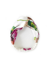 Fashion Favorite Haarband Satijn - Wit Bloemen
