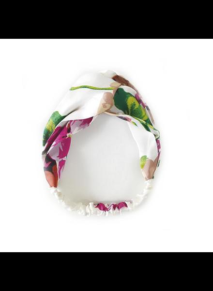 Fashion Favorite Haarband Satijn - Wit Bloemen