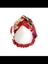 Fashion Favorite Haarband Satijn - Rood Bloemen