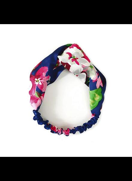 Fashion Favorite Haarband Satijn - Blauw Bloemen