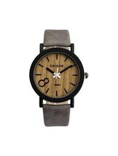 Fashion Favorite Feifan - Houtlook Horloge - Grey/Grijs