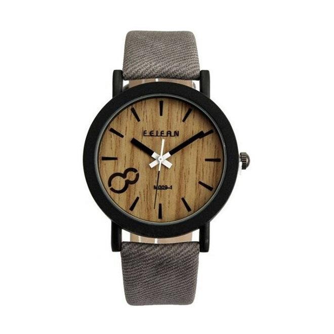 Feifan - Houtlook Horloge - Grey/Grijs