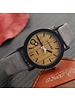 Fashion Favorite Feifan - Houtlook Horloge - Kunststof - Grey/Grijs - 38 mm