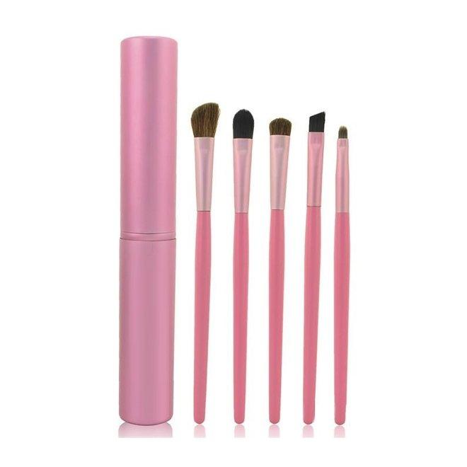 5-delige Make-up Kwasten Set - Roze