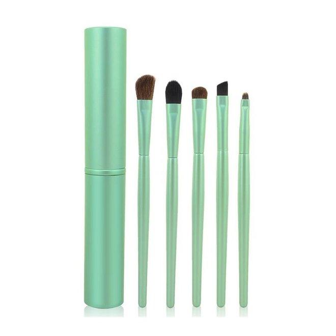 5-delige Make-up Kwasten Set - Groen