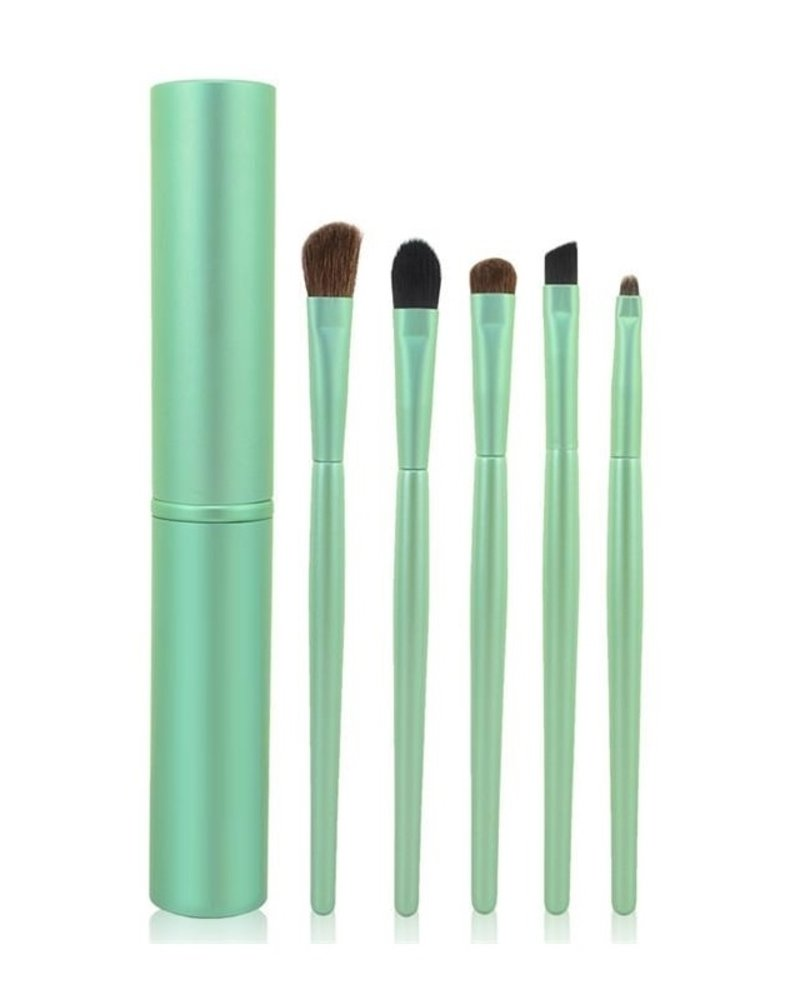 Fashion Favorite 5-delige Make-up Kwasten Set - Groen