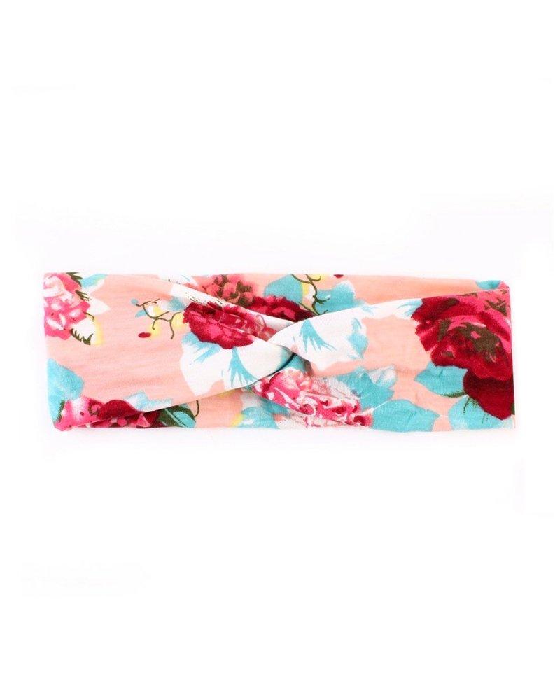 Fashion Favorite Haarband Roze Bloemen | Katoen | Flower Bandana |