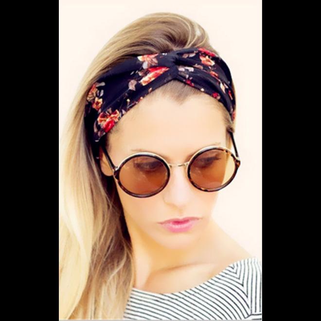 Haarband Roze Bloemen | Katoen | Flower Bandana |