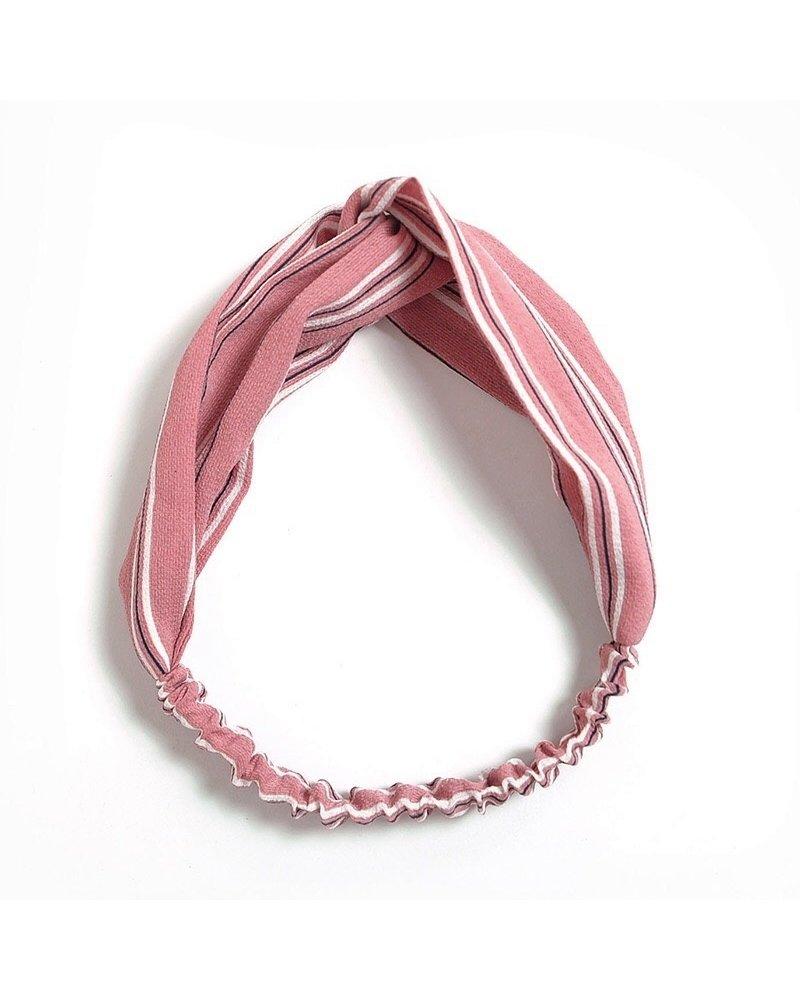 Fashion Favorite Haarband Print | Streep Blush Pink | Elastische Bandana