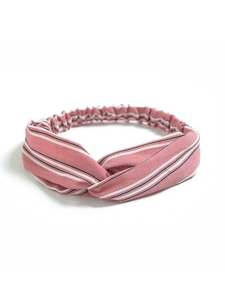Fashion Favorite Haarband Print | Streep Blush Pink