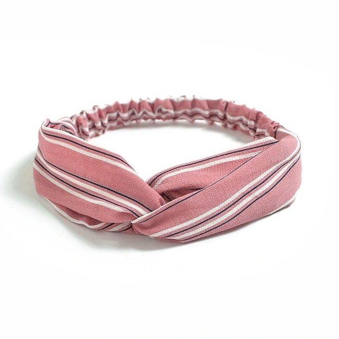 Haarband Print | Streep Blush Pink