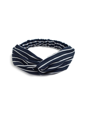 Fashion Favorite Haarband Print | Streep Blauw - Wit