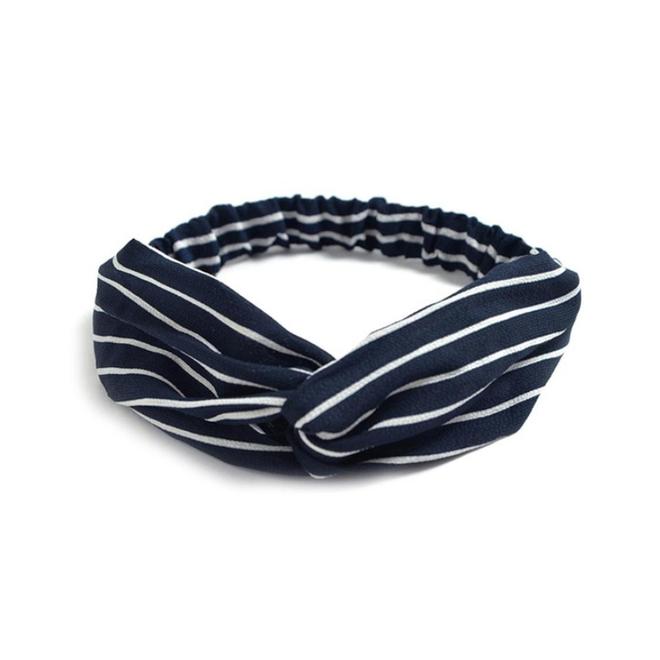 Haarband Print | Streep Blauw - Wit