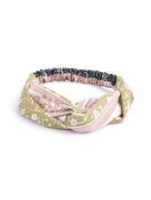 Fashion Favorite Haarband Print | Bloem Roze - Groen - Blauw