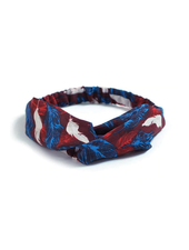 Fashion Favorite Haarband Print | Bloem Rood - Blauw - Wit