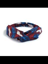 Fashion Favorite Haarband Print | Bloem Rood - Blauw - Wit