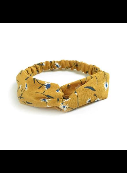 Fashion Favorite Haarband Print | Bloem Okergeel