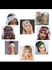 Fashion Favorite Haarband Print | Bloem Groen - Okergeel - Wit | Elastische Bandana