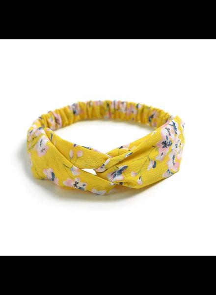 Fashion Favorite Haarband Print | Bloem Geel - Blauw - Wit