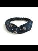 Fashion Favorite Haarband Print | Bloem Blauw - Wit | Elastische Bandana