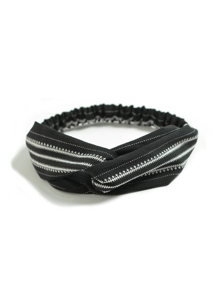 Fashion Favorite Haarband Print   Aztec Zwart - Wit