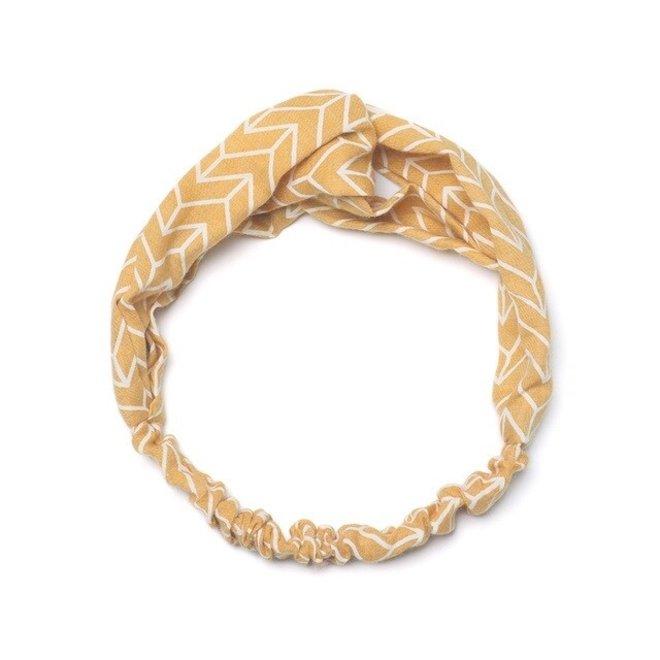 Haarband Pretty Pastel Okergeel   Katoen   Elastische Bandana
