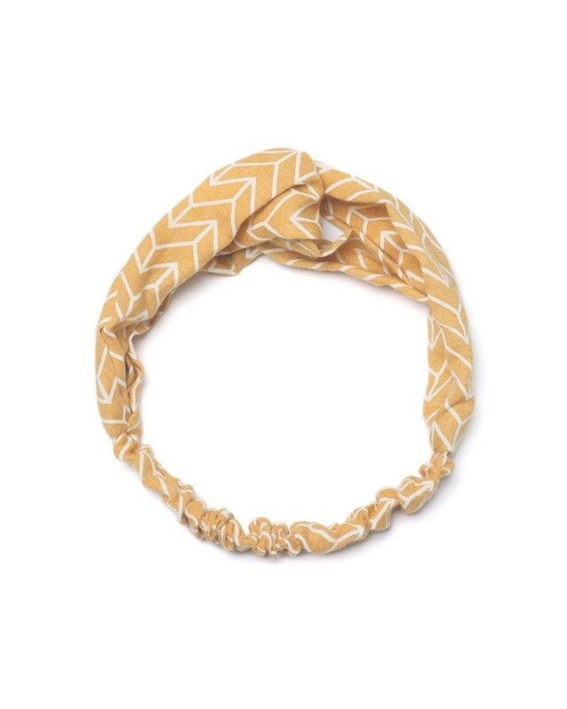 Fashion Favorite Haarband Pretty Pastel Okergeel   Katoen   Elastische Bandana