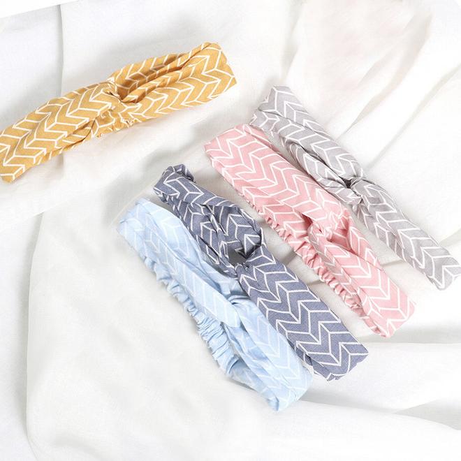 Haarband Pretty Pastel Grijs | Katoen | Bandana