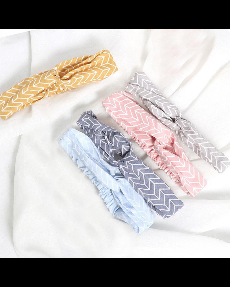 Fashion Favorite Haarband Pretty Pastel Grijs | Katoen | Bandana