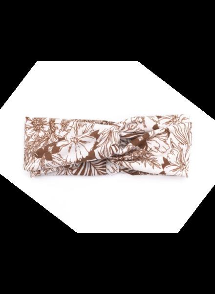 Fashion Favorite Haarband Bloemen Leaf Bruin