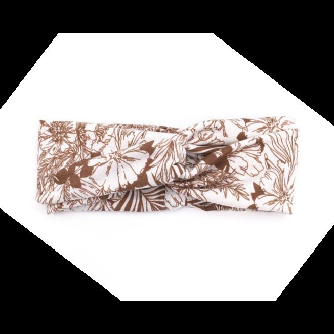 Haarband Bloemen Leaf Bruin   Katoen   Bandana