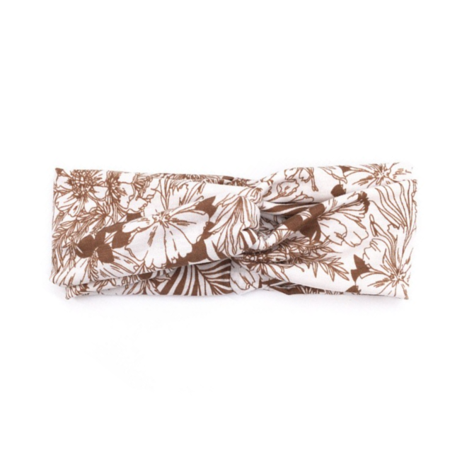 Haarband Bloemen Leaf Bruin