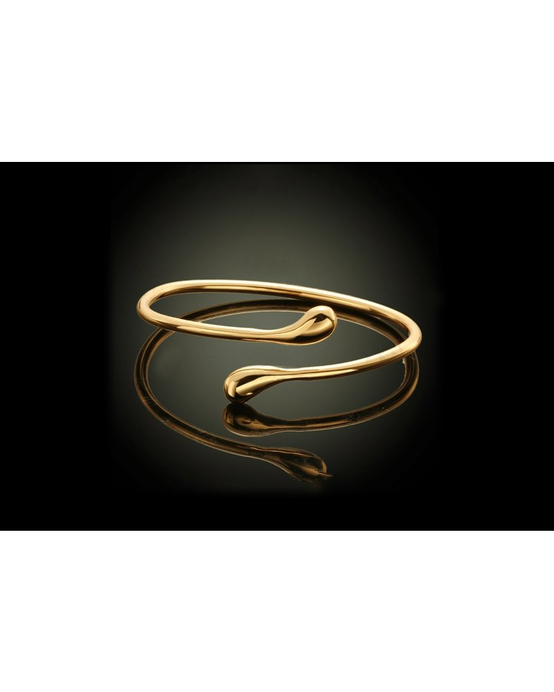 Fashion Favorite Gold Snake Armband | Bangle Goudkleurig