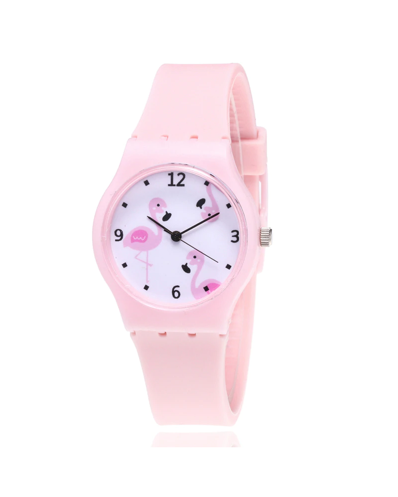 Fashion Favorite Flamingo Kinderhorloge Roze | Kunststof/Plastic