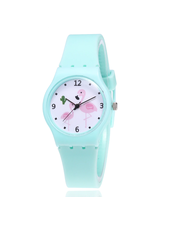 Fashion Favorite Flamingo Kinderhorloge Mintgroen