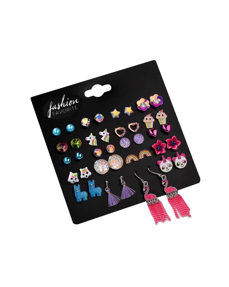 Fashion Favorite Stud Oorbellen | Candy Color | Bijoux | Set 20 Paar