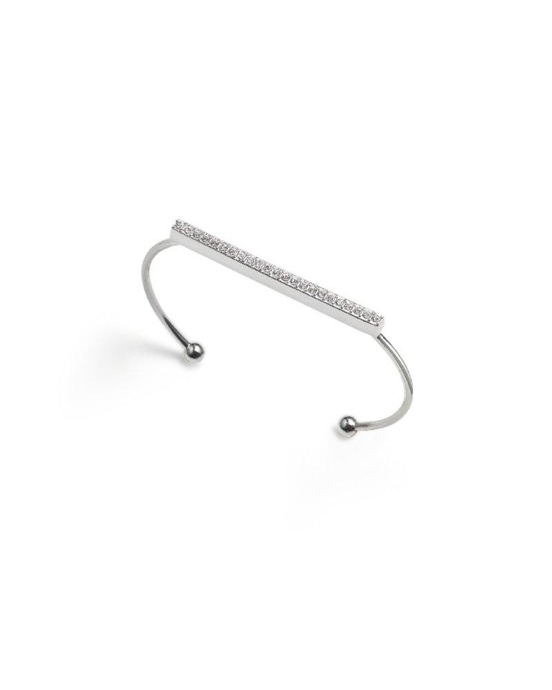 Fashion Favorite Sempre London Bangle/Armband - Zilverkleurig - 17 cm